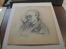 Henry Major 1938 ORIGINAL DRAWING Signed Autographed John Ford caricature