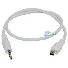 3.5mm Male Stereo Plug to Mini USB Male Plug Adapter Converter Audio Cable White