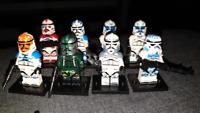 8 Pcs Minifigures lego MOC star war Gree Rex 501ST Wolfpack Clone Storm Trooper