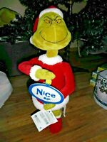 "THE GRINCH WHO STOLE CHRISTMAS porch DOOR GREETER NEW 23"" NAUGHTY OR NICE?"