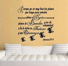 Wall Decal. Inspirational Wall Decal. Christian Decor. Biblia. Jeremias 29:11