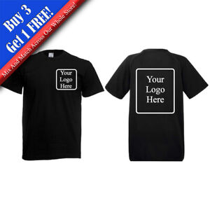 Personalised Men's Work T-Shirt, Add Your Logo to the Front, Back or Both