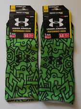 Under Armour Men's Mayan No Show Action Sport Socks Large Set of 2 Pairs New!