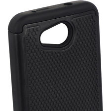 For Kyocera Hydro Wave / Air - HARD & SOFT RUBBER HYBRID SKIN CASE BLACK ARMOR