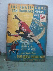 SF 49ERS VS. LA RAMS 1954 VINTAGE WOOD SIGN (L@@K!)