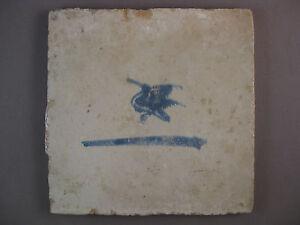Antique Dutch animal tile duck rare tiles 17th century - free shipping