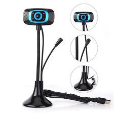 360° Degree HD USB 2.0 Webcam Camera+Mic Web Cam For Laptop PC Computer Skype