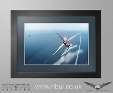 Framed English Electric F.6 Lightning, 5 Sqn RAF Akrotiri APC Print