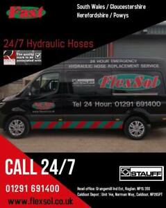 ON SITE HYDRAULIC HOSE ASSEMBLIES -  24/7 SOUTH WALES