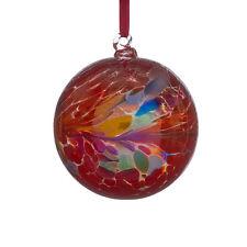 L'amicizia di vetro o STREGHE Ball, 10 cm rosso con finitura iridescente by Sienna