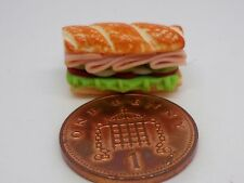 1:12 Scale Ham Salad Club Roll Dolls House Kitchen Bread Snack Food Accessory