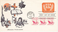 POSTAL HISTORY - FIRST DAY COVER FDC 1983 5.2 CENT NONPROFIT ENVELOPE WESTVACO C