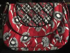 VERA BRADLEY BAG PURSE Red Black Flower Houndstooth