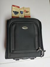 Eddie Bauer Black Carry On Travel Rolling Luggage Suitcase Bag Handle