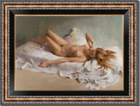 "Hand-painted Original Oil Painting art Impressionism nude girl on canvas 24""x36"""