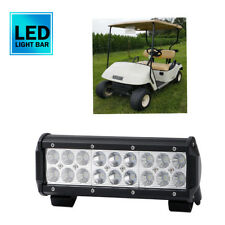 "Super Slim Dual Row  LED Work Light Bar 9"" 54W Flood Beam Golf Cart E-Z-G"