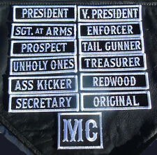 SON OF OUT LAW MC CLUB OFFICER TITLE 13 PC MC BIKER PATCH BY MILTACUSA