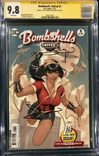 GAL GADOT SIGNED WONDER WOMAN BOMBSHELLS UNITED 1 CGC 9.8 COMIC BOOK 1984 CBCS