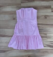 NEW vineyard vines Kentucky Derby Pink Seersucker Strapless Dress Size 6 NWT Day