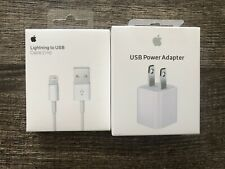 New Set iPhone Charger And Wall Charger 5W MD819ZM/A 1m Lightning USB Cable.