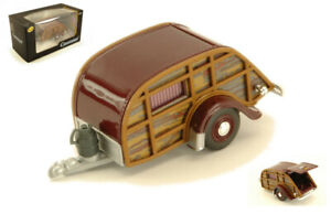Model Camper Car vehicles road Scale 1:43 Caravan Woody diecast