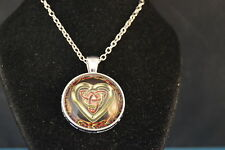 Gorgeous  CELTIC HEART Cabochon  PENDANT -  NECKLACE  New!  Jewelry  USA SELLER!