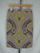 J Crew Pencil Skirt Size 2 Sovereign Paisley