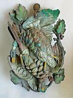 bois sculpté chasse - nature morte aux faisans