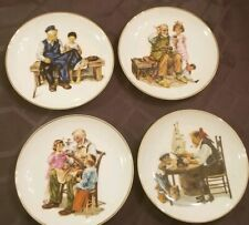 4 Plates From The 1984 Museum Collection Inspired by Norman Rockwell