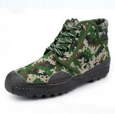 Mens military camo Canvas High Top Training Lace UP casual Boots Work New 36-46