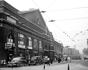 NHL 1945 Montreal Forum Outside View Montreal Canadiens 8 X 10 Photo Picture