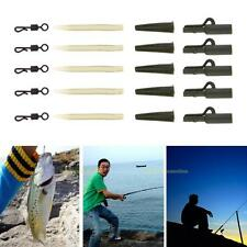40pc Fishing Tackle carp lead clips Quick Change swivels Anti Tangle Sleeves