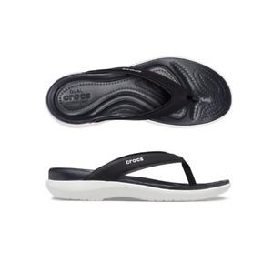 Womens Crocs Capri V Sporty Flip W Black Sandal Flip Flop