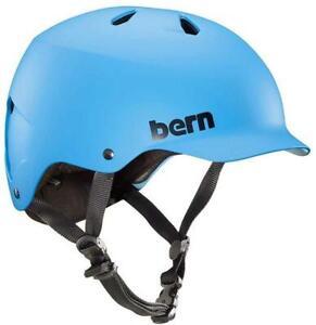 Bern Watts EPS Visier Urban Commute Helm Fahrradhelm Summer Watts matt Cyan Blau