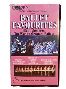 Ballet Favourites Highlights From The World VHS  Retro Vintage Video Cassette