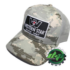 5bc88bc0 western star semi trucker hat ball cap digital camo mesh back snap diesel  gear