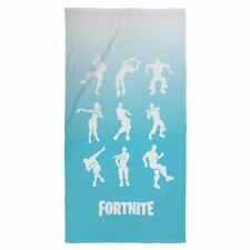 OFFICIAL FORTNITE SHUFFLE BEACH TOWEL COTTON DANCING HEROES BLUE KIDS