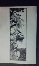 Wolverine black and white  illustration comic art print by Sam Kieth
