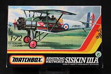 YN091 MATCHBOX 1/72 maquette avion 40025 Armstrong Whitworth Siskin IIIA