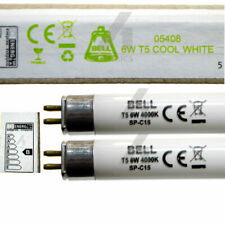 "2 x 6 Watt T5 Fluorescent Tubes 225mm 9"" for Under Cupboard Link Strip Lights 6W"