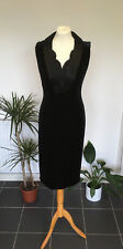 JOHN CHARLES Black Dress with Beaded Sequin Neckline