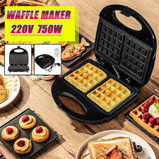 Household Waffle Maker Toaster Breakfast Sandwich Machine Dual Non-Stick