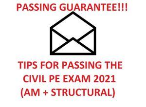 CIVIL PE EXAM STUDY MATERIALS (Breadth AM + Structural Depth) TIPS