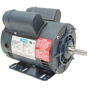 "5 HP COMPRESSOR MOTOR 230 VOLTS 3450 RPM 5/8"" SHAFT SPECIAL DUTY LEESON  10-2530"