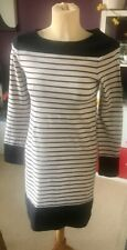 FRENCH CONNECTION ~ LONG SLEEVED BLUE & WHITE JUMPER DRESS ~ SIZE 10