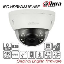 Dahua 4K UHD 8MP IP Dome Camera 2.8 H.265 POE IR IP67 Audio TF IPC-HDBW4831E-ASE