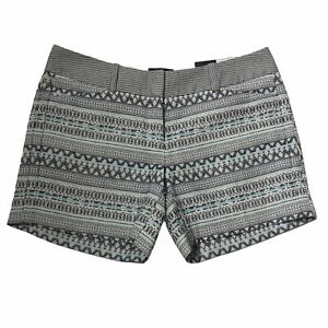 "The Limited Easy Short 5"" Inseam Shorts Blue Geometric Tribal Print New Size 0"