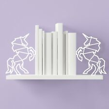 Magical Unicorn Metal Bookend Pair Mustard Home Office Decor