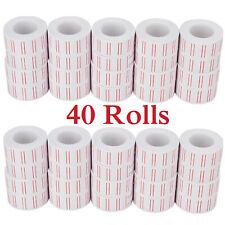 40 Rolls 600 Price Label Paper Tag Sticker Mx-5500 Labeller Gun White Red Line