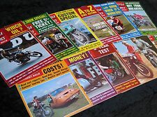 Motorcycle Mechanics 1970 Full Year Every Issue. Job lot. Collection.